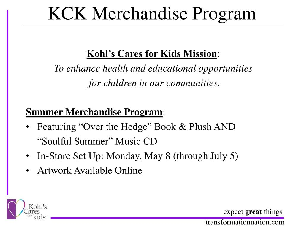 KCK Merchandise Program