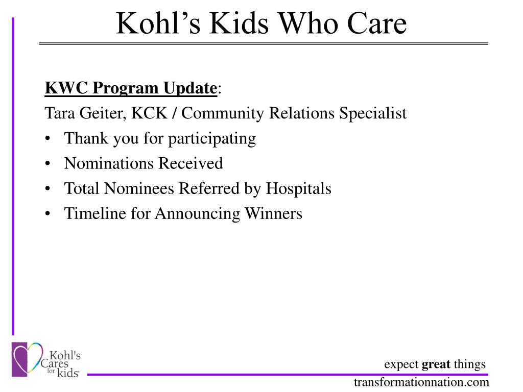 Kohl's Kids Who Care