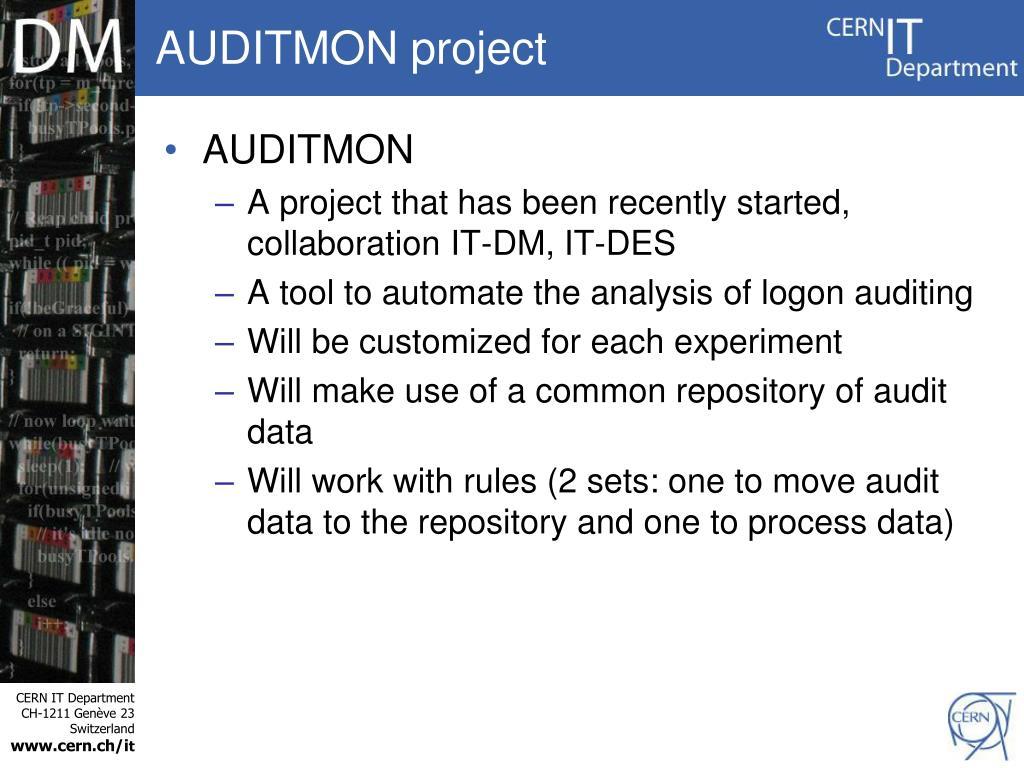 AUDITMON project