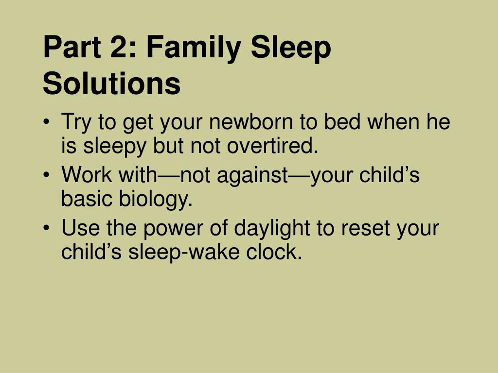 Part 2: Family Sleep Solutions