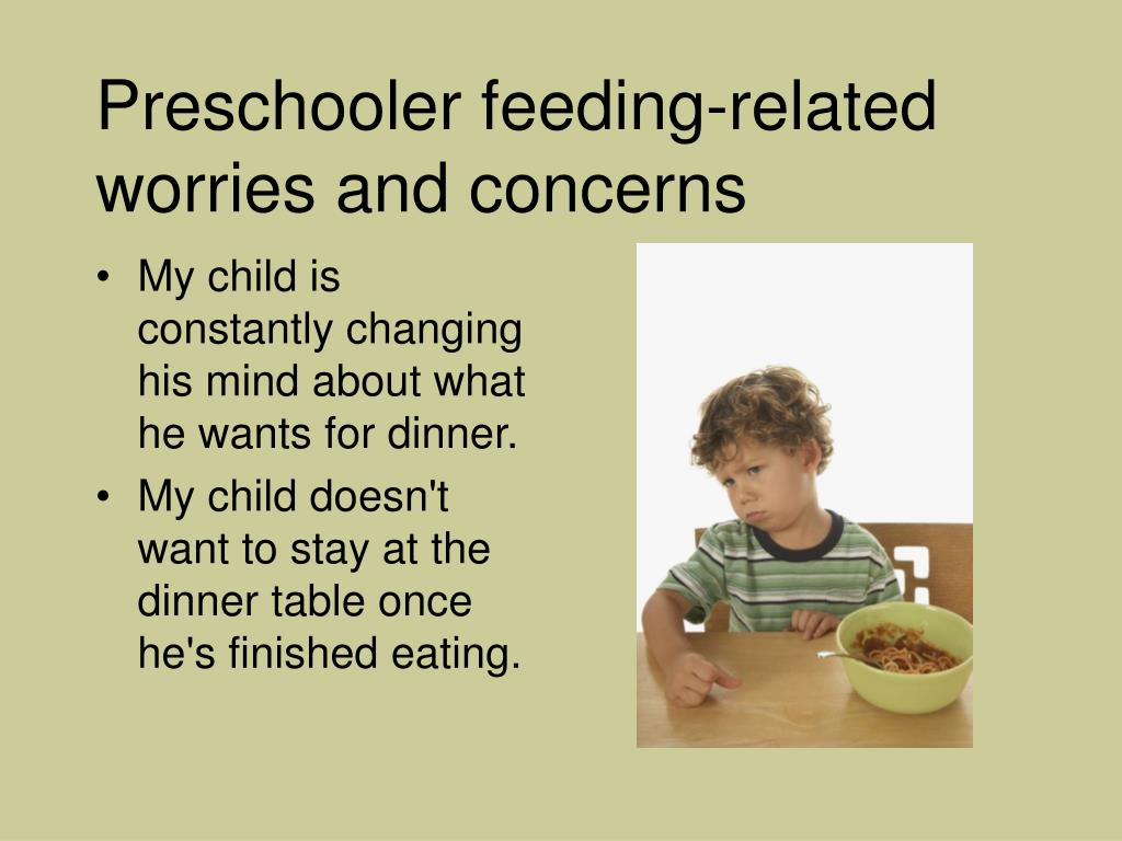 Preschooler feeding-related worries and concerns