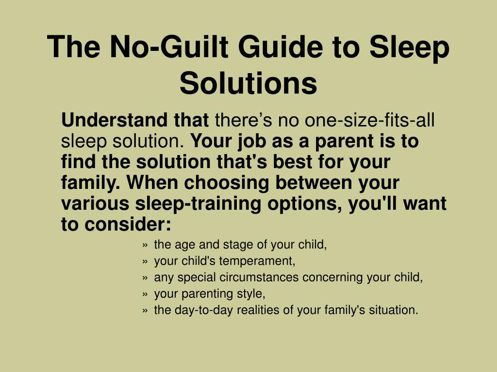 The No-Guilt Guide to Sleep Solutions