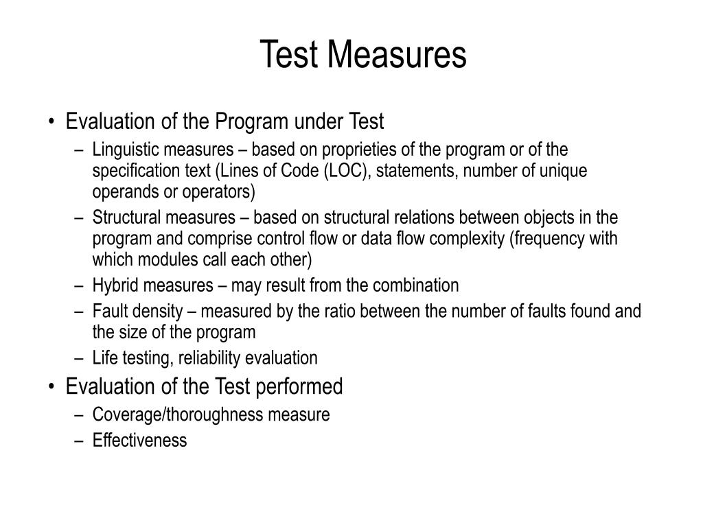 Test Measures
