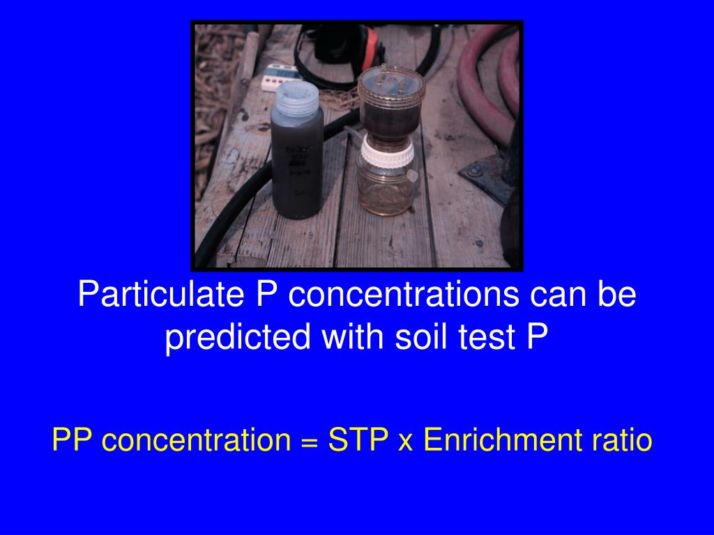 Particulate P concentrations can be predicted with soil test P
