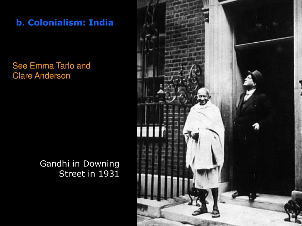 Gandhi in Downing Street in 1931