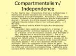 compartmentalism independence