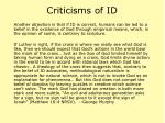 criticisms of id39