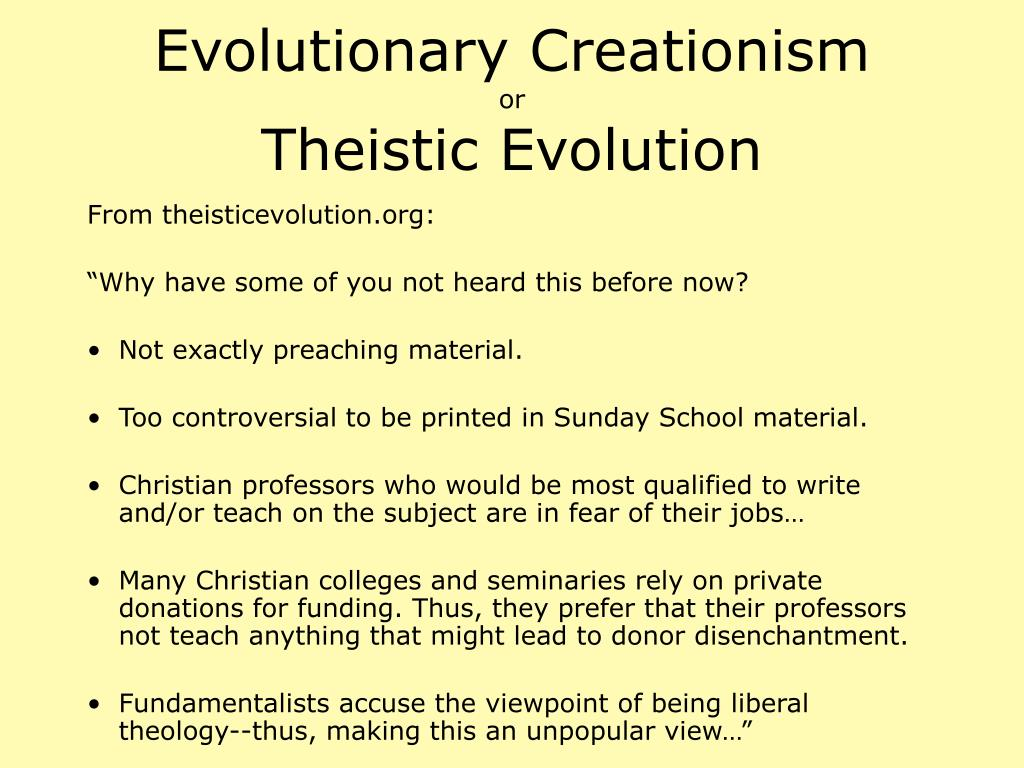 Evolutionary Creationism