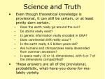 science and truth