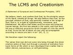 the lcms and creationism47