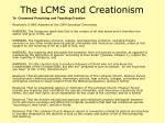 the lcms and creationism49