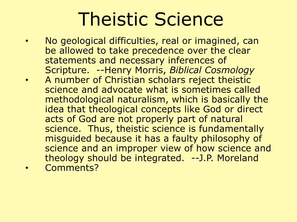 Theistic Science