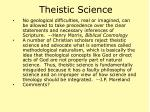 theistic science17