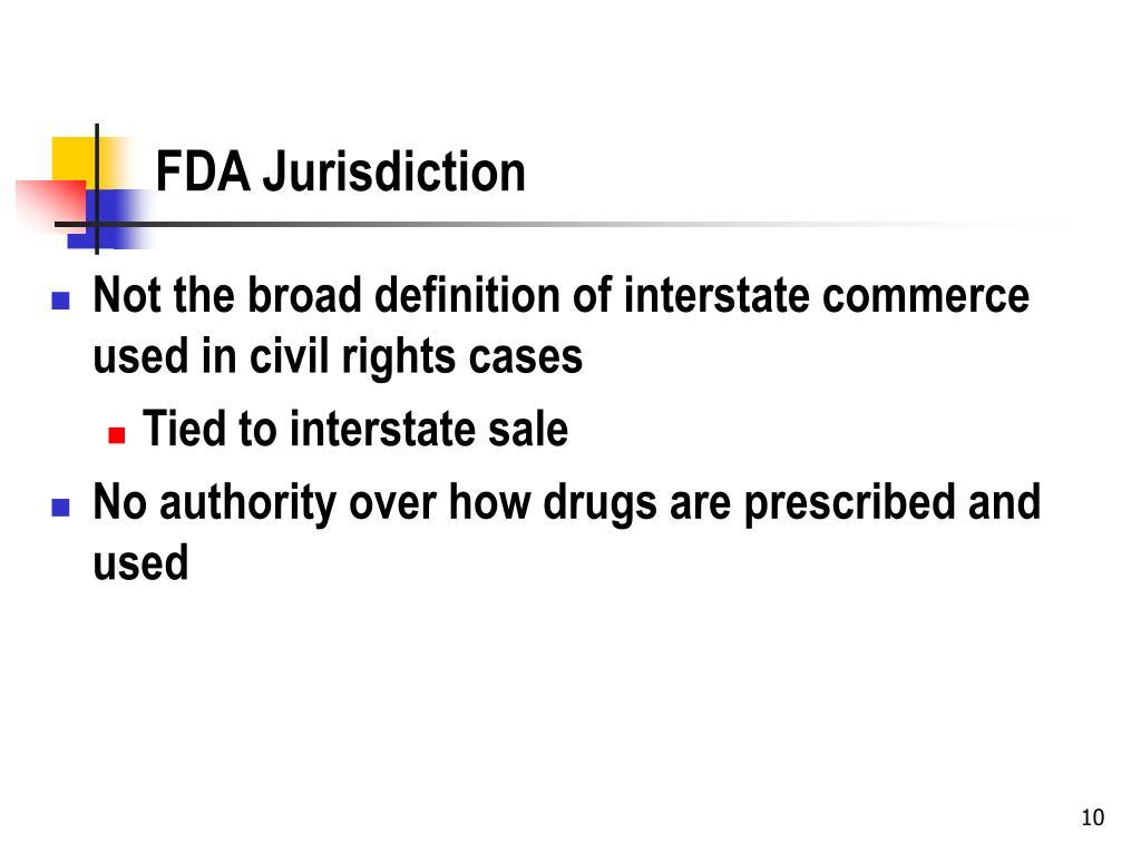 FDA Jurisdiction