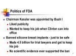 politics of fda