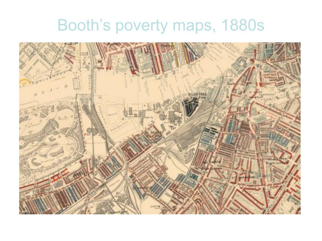 Booth's poverty maps, 1880s