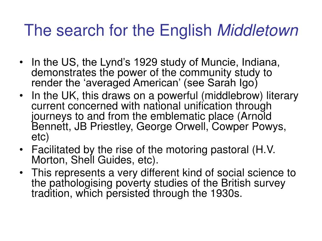 The search for the English