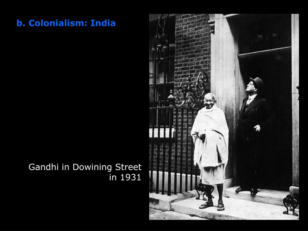 Gandhi in Dowining Street in 1931