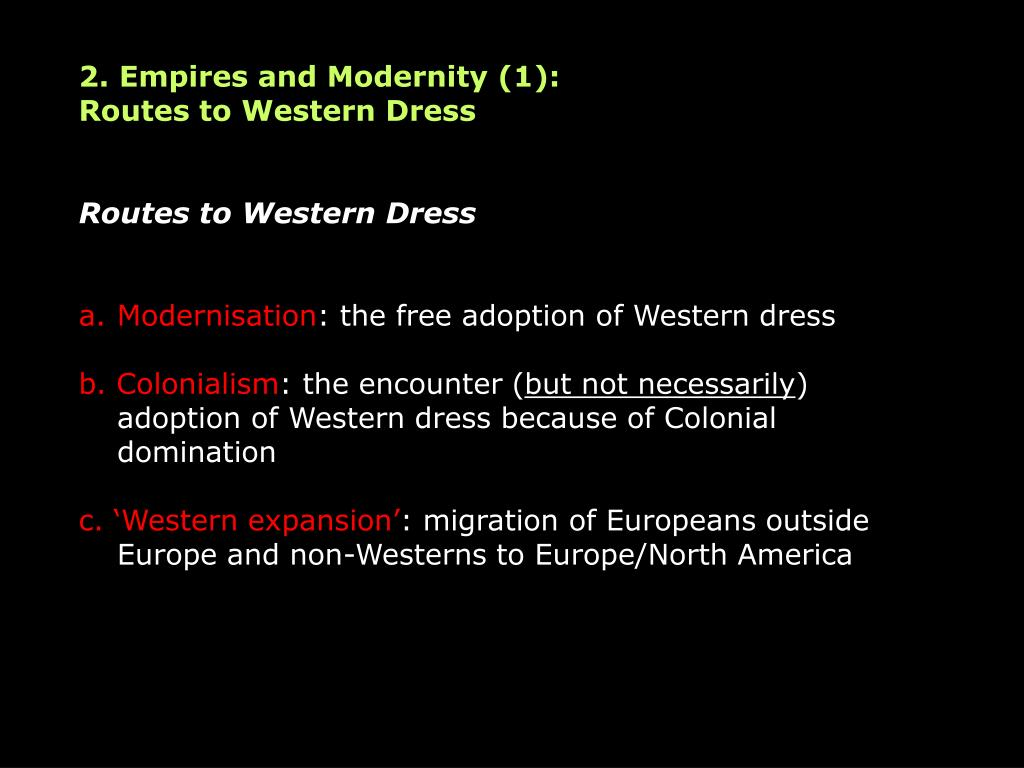2. Empires and Modernity (1):