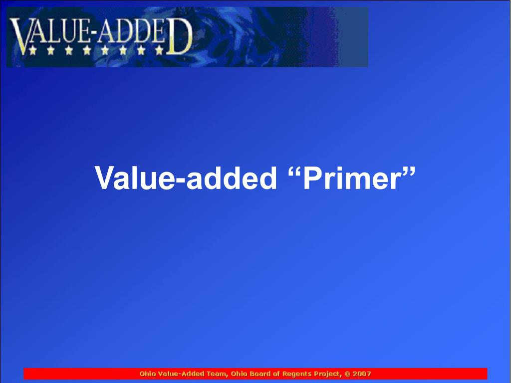 "Value-added ""Primer"""