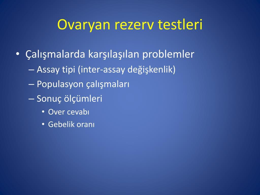 Ovaryan rezerv testleri