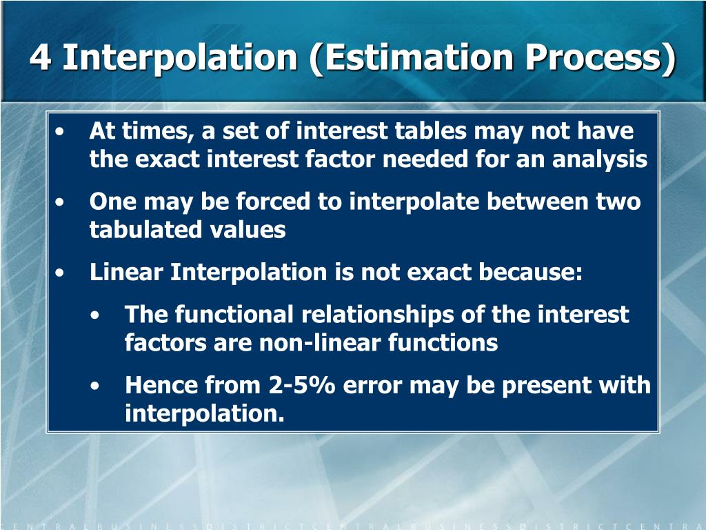 4 Interpolation (Estimation Process)