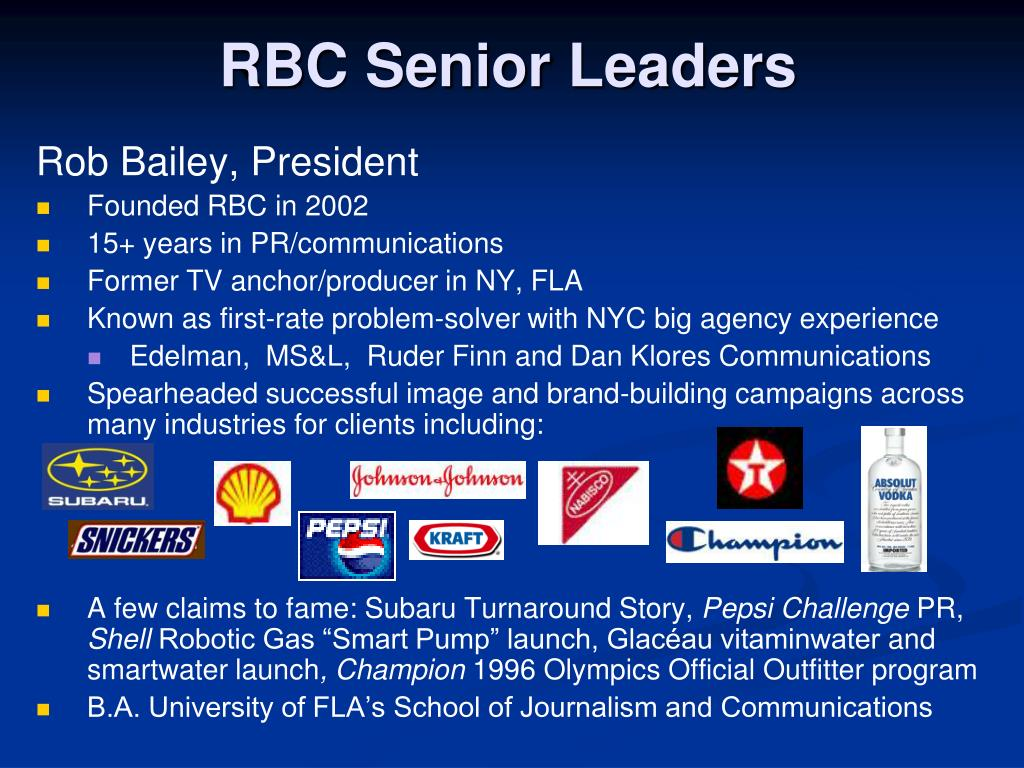 RBC Senior Leaders