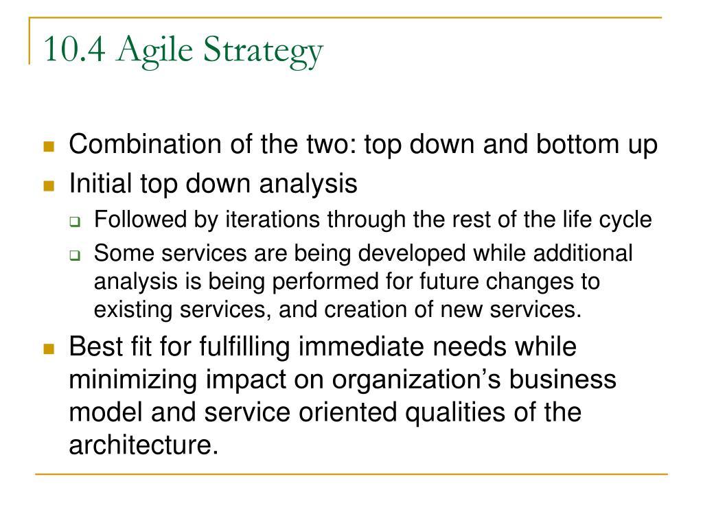 10.4 Agile Strategy