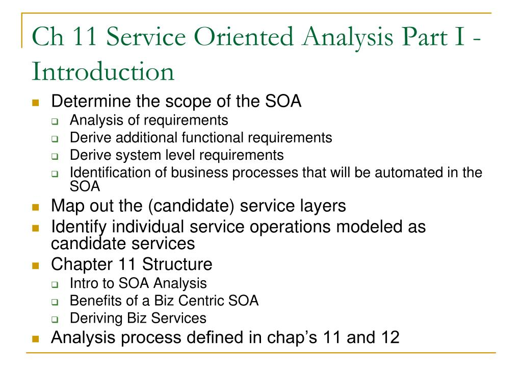 Ch 11 Service Oriented Analysis Part I - Introduction