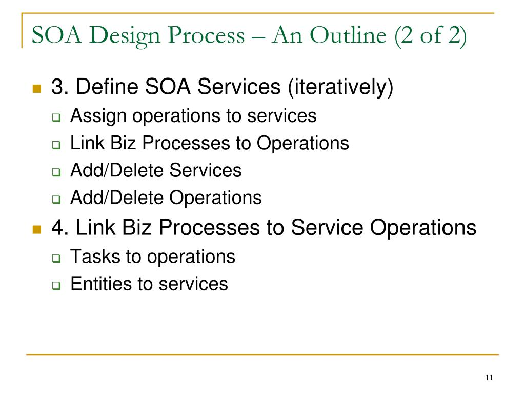 SOA Design Process – An Outline (2 of 2)