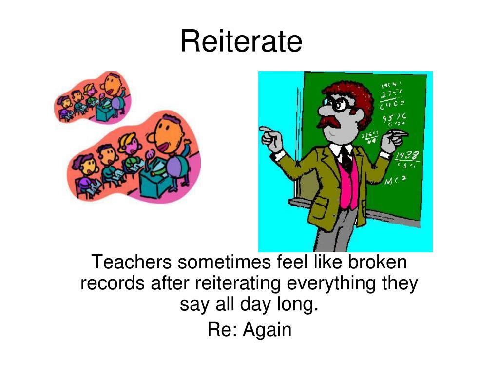 Reiterate