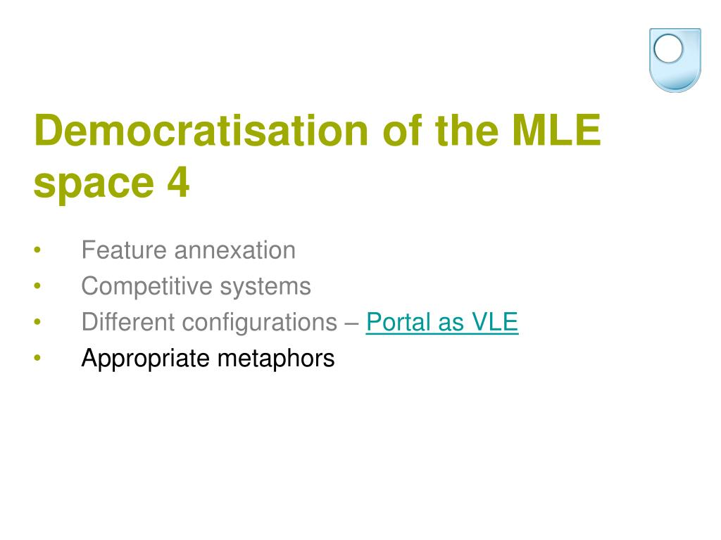 Democratisation of the MLE space 4