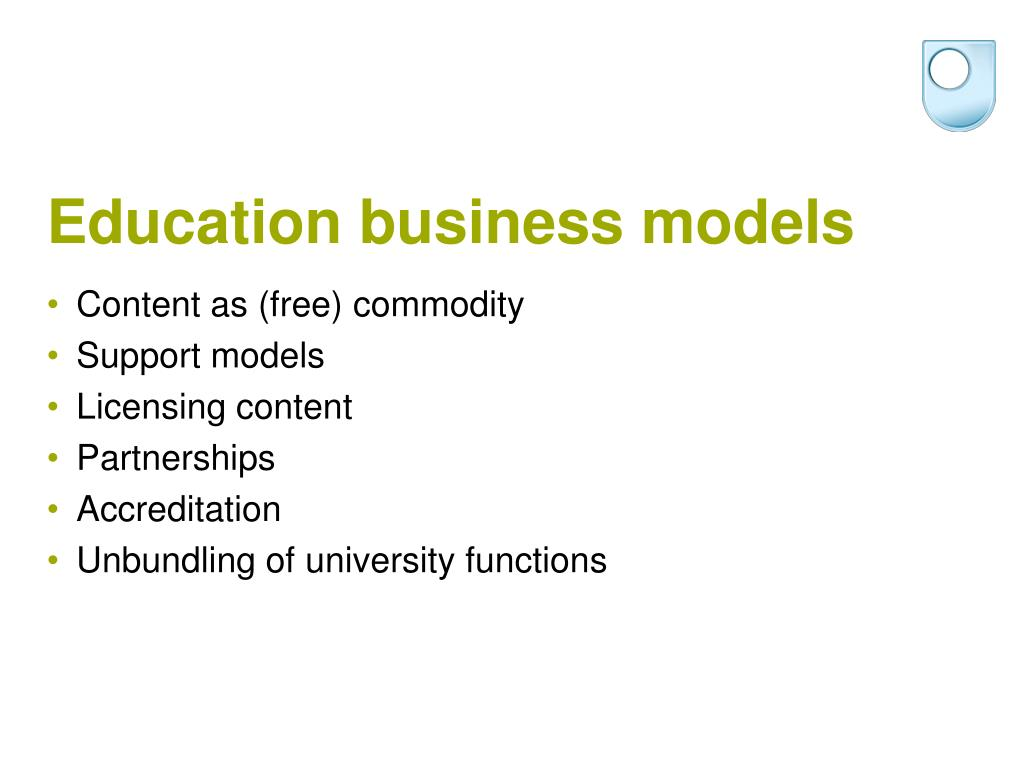 Education business models