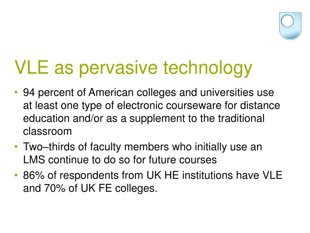 VLE as pervasive technology