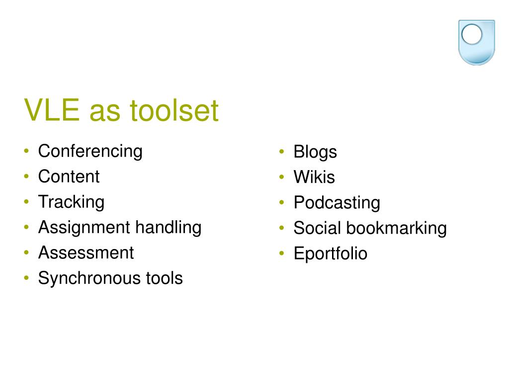 VLE as toolset