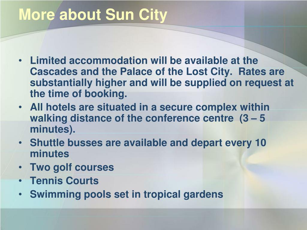 More about Sun City