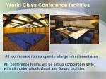 world class conference facilities