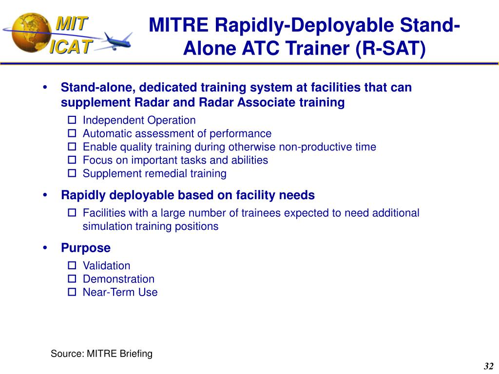 MITRE Rapidly-Deployable Stand-Alone ATC Trainer (R-SAT)