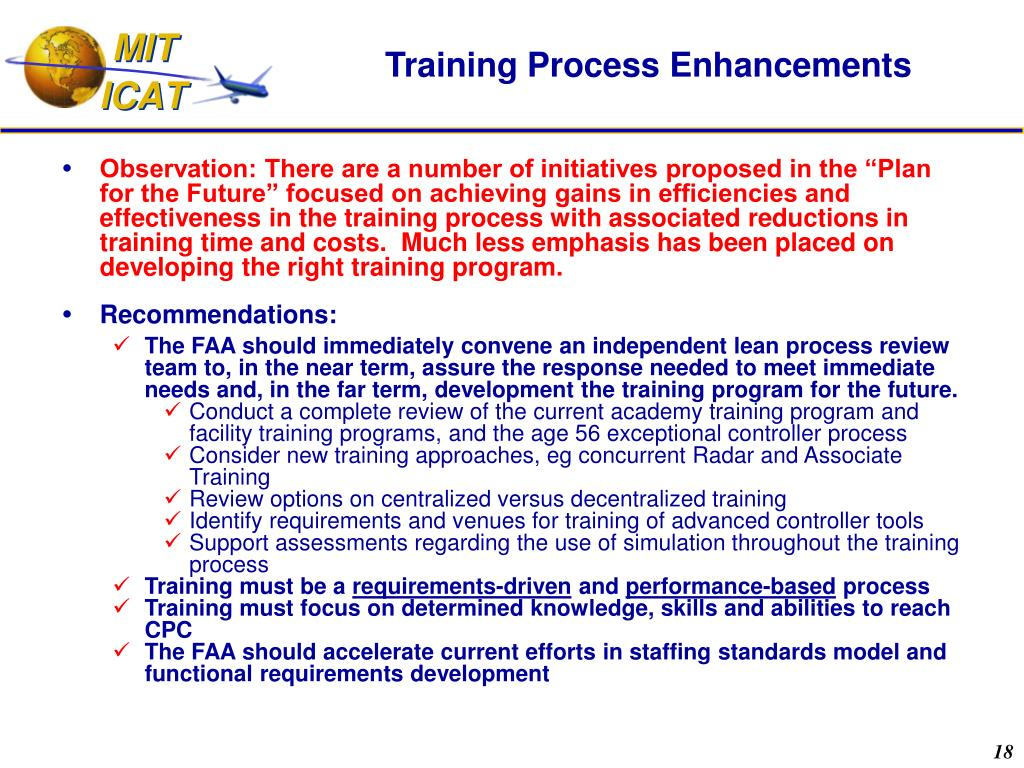 Training Process Enhancements