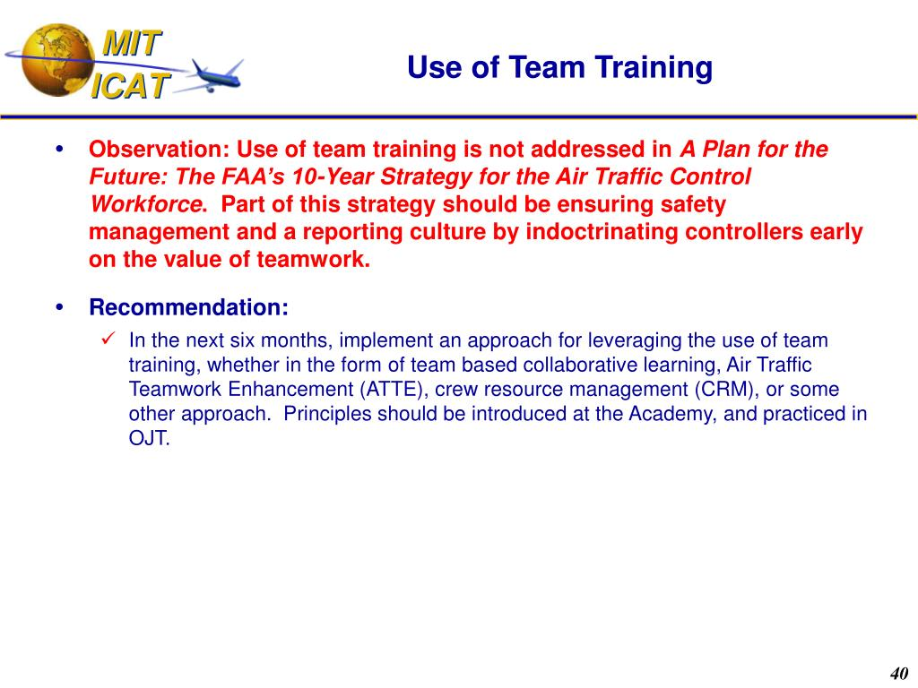 Use of Team Training
