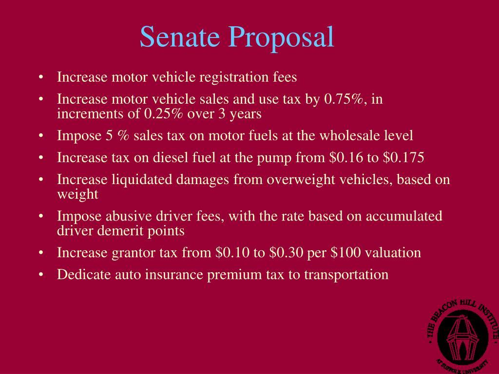 Senate Proposal