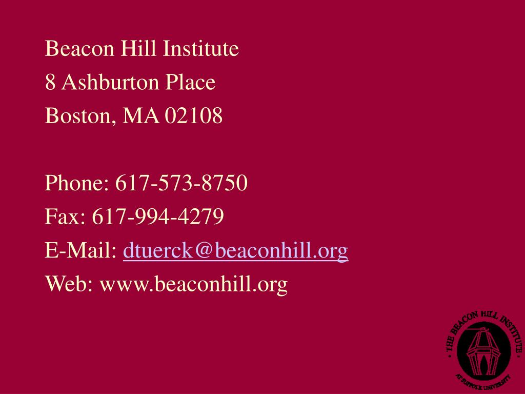 Beacon Hill Institute