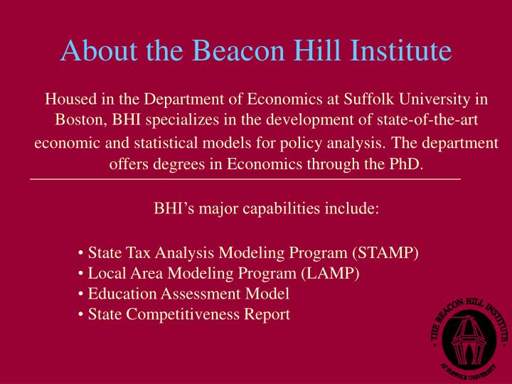 About the Beacon Hill Institute