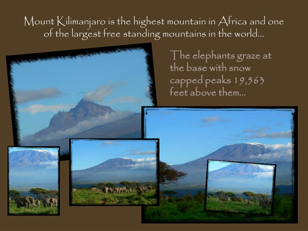 Mount Kilimanjaro is the highest mountain in Africa and one of the largest free standing mountains in the world…