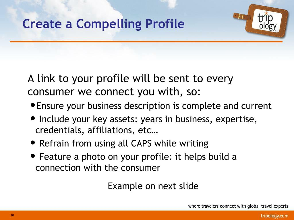 Create a Compelling Profile