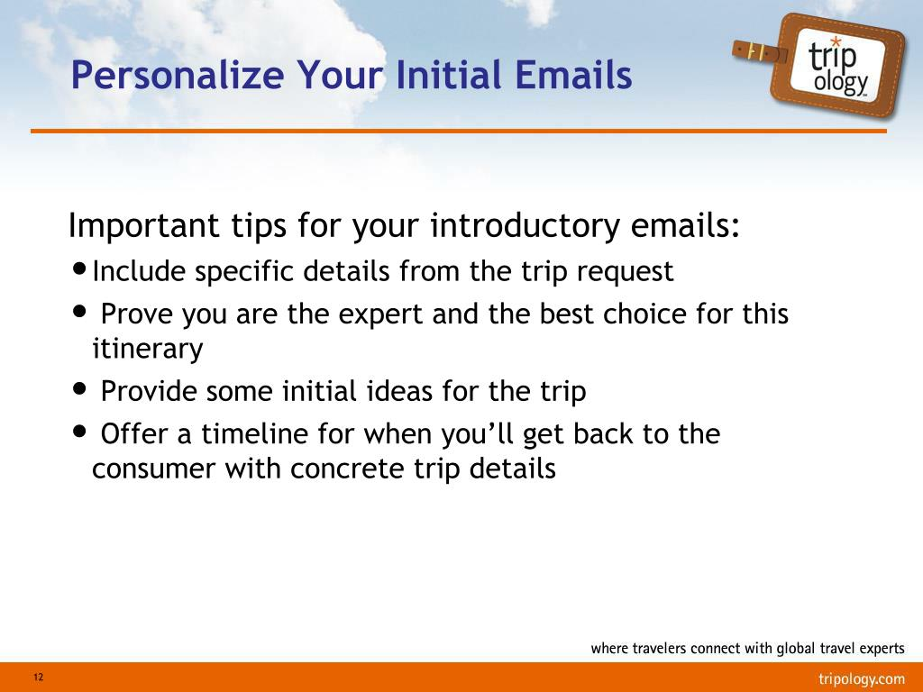 Personalize Your Initial Emails