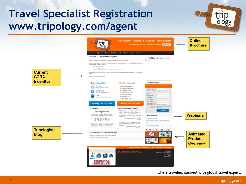 Travel Specialist Registration