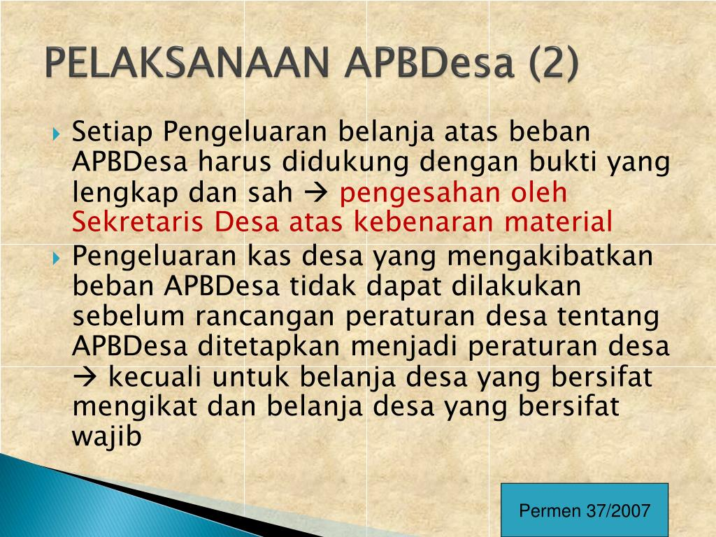 PELAKSANAAN APBDesa (2)