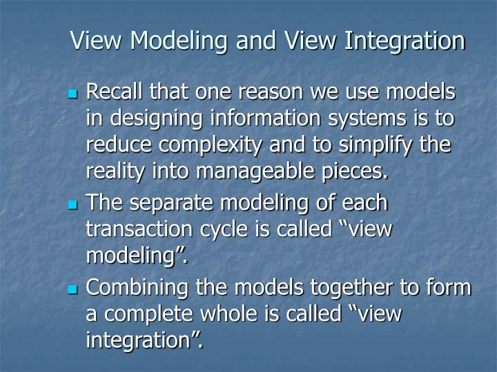 View modeling and view integration l.jpg