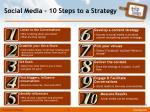 social media 10 steps to a strategy